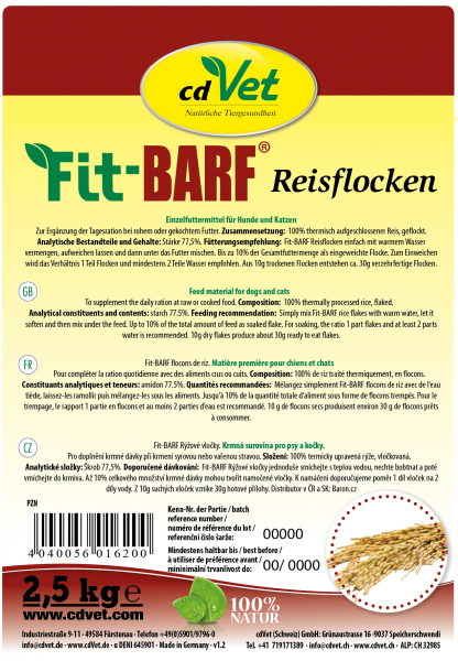 Fit-BARF Reisflocken