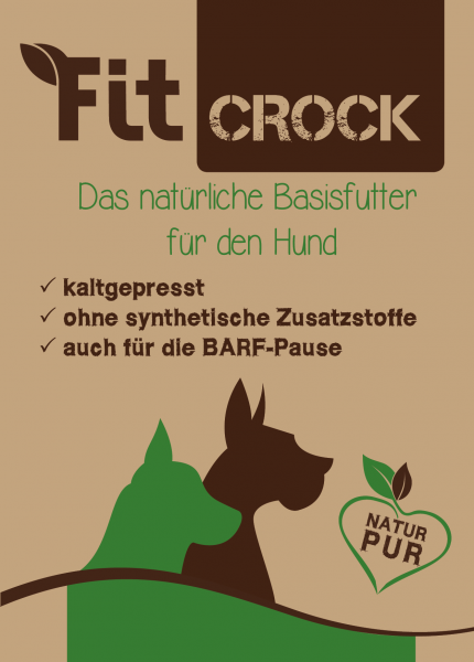 Flyer Fit-Crock, DIN A6 Farbe,